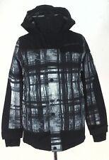 OBERMEYER Jacket Black/Gray Tree Print Winter Ski/Snowboard Teen L 14-16 $199.50