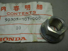 Honda NOS CB100, CL100, 1970, Rear Axle Nut, # 90305-107-000   h.