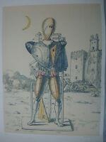 GIORGIO DE CHIRICO LITOGRAFIA PUBLICATA CM 50X70 pisani,romano,pistoletto,lodola