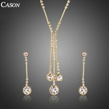Gold Jewelry Set for Women Necklace & Earrings Female Party Wedding Jewelry Set