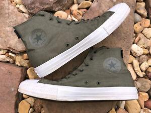 Converse All Star Army Green Nylon w Cordura Fabric High Top Sneakers M11.5W13.5