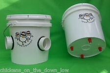 Automatic Chicken Feeder & Waterer - 2 Gallon - Poop-Free