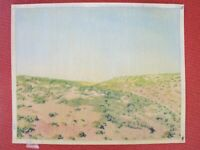 ⭐Israel Landscape Drawings Pencil Vintage Art Original By YOLA Signed Colored ⭐