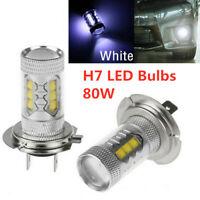 2X H7 LED Headlight Bulb Conversion Kit Hi/Lo Beam 80W 8000LM 6000K Super Bright