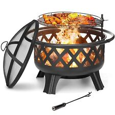 More details for fire pit firepit outdoor brazier garden bbq round stove patio heater c