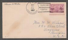 Kappy Nc46 Uss Henderson 10-30-37 Tsingtao China Postal History Cover