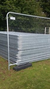 BRAND NEW HERAS TYPE SECURITY FENCE SETS £32 PER SET(SET=1PANEL 1 FOOT 2 CLIPS)