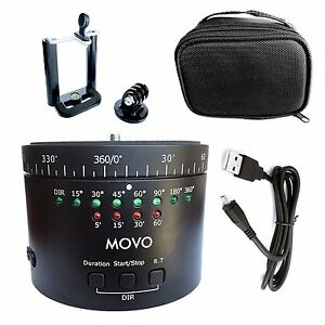 Movo Photo MTP-11 Motorized Panaromic Time Lapse Tripod Head with Variable Speed