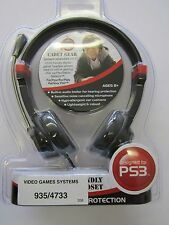 GameOn Cadet Gear Gamer Headset PC71 Child Friendly Lightweight for PS3 Console