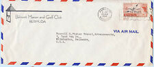 Bermuda 1959 Airmail Cover Belmont Golf Club to Delaware USA #153 Slogan Cancel