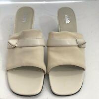 Judith Cream Slip On Slide Sandals Size 10 New