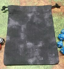 Black Marbled dice bag, card bag, makeup bag