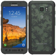 Samsung Galaxy S7 Active G891A Camo Green At&t (Unlocked) - 32GB 4G Smartphone