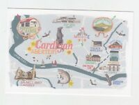 Mint Map Postcard of Cardigan by Star Editions