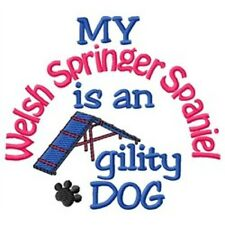 My Welsh Springer Spaniel is An Agility Dog Short-Sleeved Tee - DC1926L