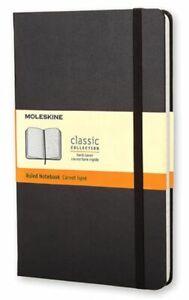 Moleskine Notebook Classic- Copertina Rigida Nera 240 Pagine Rigate 13x21