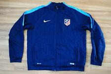 ATLETICO MADRID TRAINING TRACK TOP JACKET NIKE SIZE MENS XL BLUE COLOR ZIP RARE