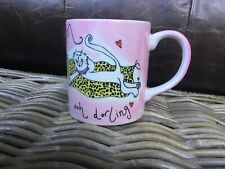 A Beth for Whittard Sex Kitten mug Pink Cat design