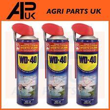 3 X WD40 WD-40 Multi-Use Smart Straw 450ml Spray Aerosol Clean Rust Lubricant