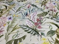 Hawaiian Flora Panama Cotton  140cm wide  Curtain / Upholstery Fabric