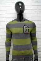 Guess Uomo XS Maglione Grigio Felpa Sweater Man Cardigan Pullover Lana Merino