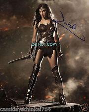 "Gal Gadot Wonder Woman Reprint SIGNED 11x14"" Poster #1 RP Batman vs Superman"
