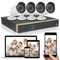720P HDMI HD 4CH DVR Recorder 1080N Outdoor CCTV Home Security Camera System US