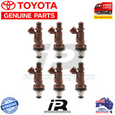 6 x GENUINE TOYOTA FUEL INJECTORS HILUX PRADO 5VZFE 3.4L 6cyl NEW 23250-62040