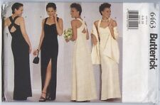 Butterick 6463 Sewing Pattern Misses' Long Lined Evening Dress & Stole 6 8 10 UC