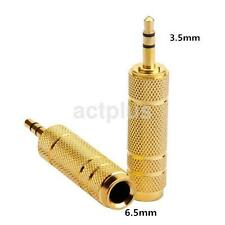 3.5mm 1/8 Male to 6.5mm 1/4 Female Stereo Audio Adapter Jack Adapter Connector A