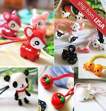 Lot 5pcs Assorted Japan Kawaii Animal Elastic Hair Band Tie Cute ponytail holder