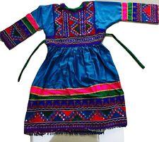 Brillante Azul Kuchi afgano BANJARA TRIBAL Boho Hippie étnicas Vestido Eid Partido señoras