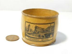 19thC Norderney von der Ostseite + Schonborns Quelle  Mauchline Napkin Ring