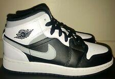 ⭐ Nike Jordan 1 Mid White Shadow UK 3.5 (GS) Girls Womens Trainer 554725-073 4Y