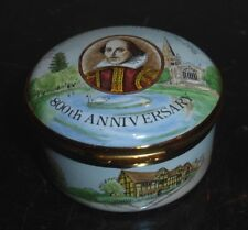 CRUMMLES ENGLISH ENAMEL BOX STRATFORD UPON AVON 800 ANNIVERSARY L. ED. 17/800