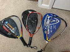 "E-Force Bedlam Racquetball Racquets 22"" Longstring Power Lot Of 2 + Ektelon 1500"