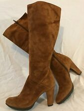 Progetto Brown Mid Calf Suede Lovely Boots Size 5 (486Q)