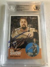 2006 TOPPS WWE WWF WCW Heritage BIG SHOW AUTO AUTOGRAPH BECKETT