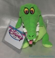 "NEW Rare 1990s DISNEY STORE Plush Beanie 8"" PETER PAN Green CROCK The CROCODILE"
