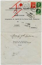 FRANCE to DAHOMEY VICHY RED CROSS PRINTED ENVELOPE + RETURNED 4189 BOXED WW2