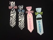 Daddy To Be Ties, Baby Shower, Pin, Corsage, Baby Girl/Boy, Decoration