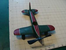 vintage  WOODEN  HAND MADE AIRPLANE, very cool, w wood wheels, NICE