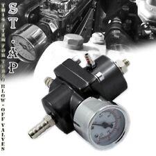Universal Aluminum Adjustable 1-140 Fuel Pressure Regulator+Gaug?E+Hose Black