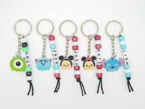 Personalised Tsum Tsum Themed Keyring Bag Tag School - Mickey Minnie Stitch