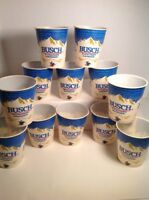 Vintage Busch Solo Wax Paper Beer Drinking Cups 10 Ounces Lot Of 12 Anheuser