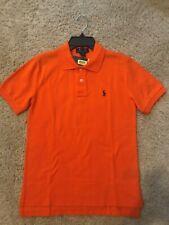NWT Polo Ralph Lauren Boy's Shirt Medium 10-12 Orange Short Sleeve