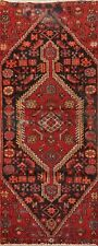 Vintage Traditional Hand-Knotted Geometric Runner Rug Wool Oriental 2x6 Carpet