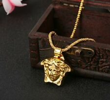 New Medusa Head 18k Gold Plated Solid Pendant Necklace Hip Hop Jewelry Hot Sexy