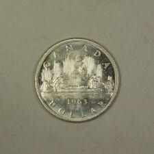 1963 Canada Silver Dollar Coin $1 BU Brilliant Uncirculated 80% Silver