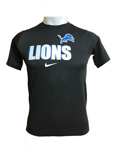 Detroit Lions Nike Youth Boys Wordmark DRI-FIT T-Shirt - Black